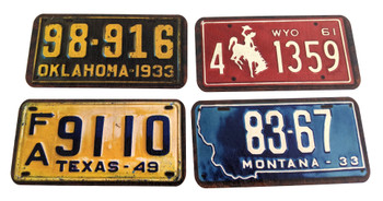 4pc. set of  U. S. State  License Plate Pickguard & Cover Plate Sets - Choose Your State