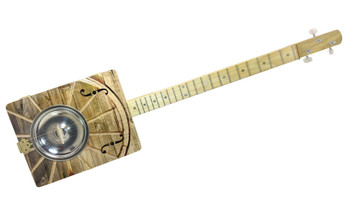 The Wagon Wheel Hubcap Resonator Cigar box Guitar