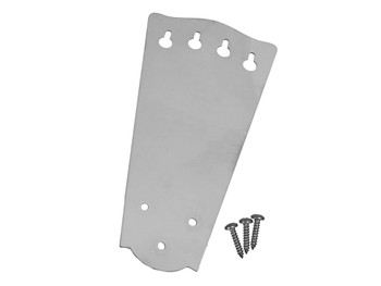 4-string Classic Cigar Box Guitar Tailpiece - Stainless Steel
