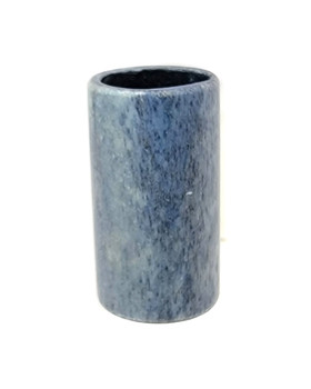 """Blue Ice"" Solid Bone Pinky/Stubby Slide for Cigar Box Guitar & More"