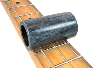 """Gray Ghost"" Solid Bone Pinky/Stubby Slide for Cigar Box Guitar & More"