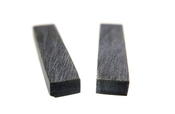 2pc. Buffalo Horn Nut Blanks for Cigar Box Guitar