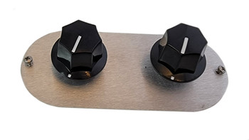 Style 1 - Pots and knobs shown for demonstration purposes only. Listing is just for the mounting plate and screws.