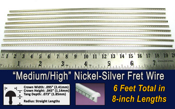 Medium/High Nickel-Silver Fret Wire (6 ft)
