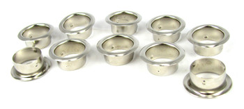 10-pack 7/8-inch Nickel Grommets/Candle Cups