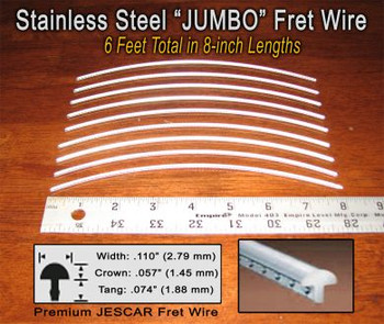 Jescar Jumbo Stainless Steel Fret Wire (6 ft)