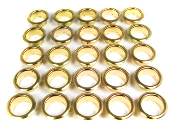 25-pack 7/8-inch Brass Grommets/Candle Cups