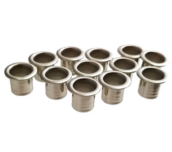12-pack 1/4-inch Tuner Bushings/Ferrules - choose finish color
