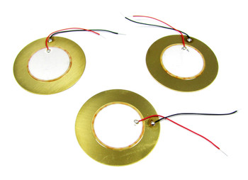 3pc. 41mm JUMBO piezos with pre-wired leads