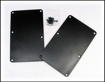 2pc. Black Plastic Cover Plates with Screws