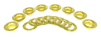 8pc. 9/16-inch (#5) Brass Grommets with Washers