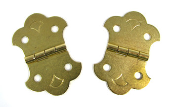 2-pack Brass-Plated Hinges