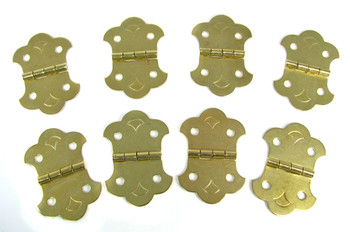 8pc Brass-Plated Hinges