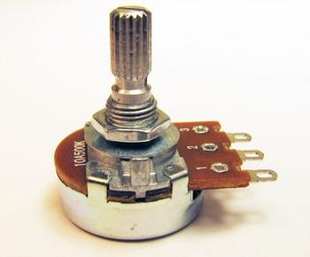 6-pack 500K Bourns Audio-Taper Potentiometer