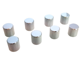 8-pack Chrome Flat-Top Knobs