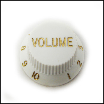 2-pack White Stratocaster-style Volume Knobs