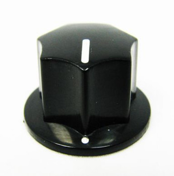 "2-pack Economy Black Plastic Press-fit ""Top Hat"" Knobs"