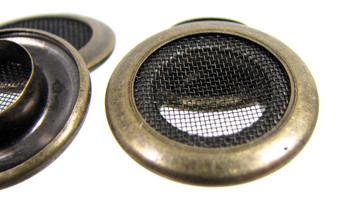 12pc 1-inch Antique Brass Screened Grommets