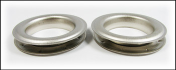 2-pack Large (1.5-inch) Satin Silver Grommets w/Washers