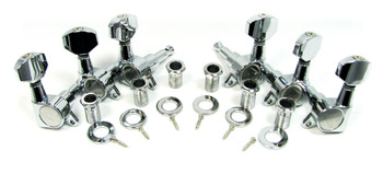Chrome Sealed-Gear Guitar Tuners/Machine Heads - 6pc. 3 left/3 right