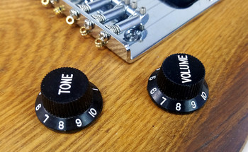 8-pack Black Stratocaster-style Tone Knobs
