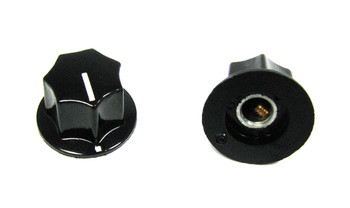 "2-pack Black Plastic ""Top Hat""-style Knobs with Set Screw"
