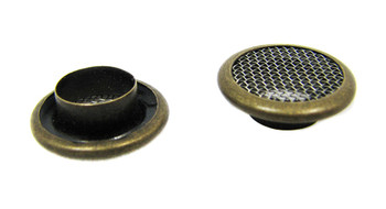 25pc 15mm Antique Brass Screened Grommets