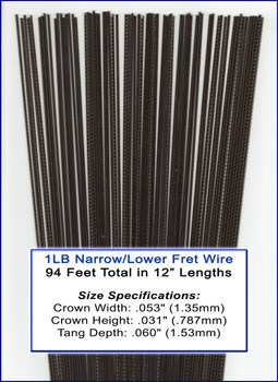 1 pound of  Bulk Fret Wire - NARROW/LOWER Nickel-Silver