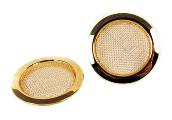 2pc. Gold Screened Sound Hole Inserts