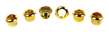 6pc. Gold Press-Fit Guitar Machine Head / Tuner Bushings