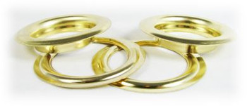 2-pack Large (1.5-inch) Brass Grommets w/Washers