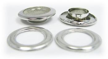 100pc 1-inch Screened Nickel Grommets