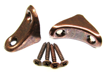 2pc. Antique Copper CBG Neck Braces w/Screws