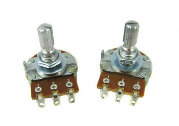 6-pack 1MOhm Bourns Audio-Taper Potentiometer
