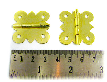 2pc. Brass-plated Butterfly Hinges
