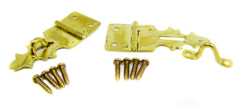 2pc. Brass-plated Box Latches