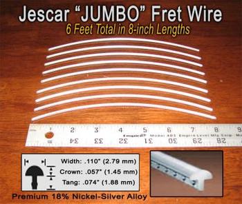 Jescar Jumbo Nickel-Silver Fret Wire (6 ft)