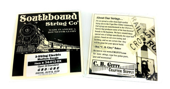 "Electric ""Medium"" 3-String Cigar Box Guitar Strings - Open G - GBD/GBE"