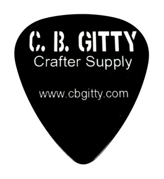 "12pc. Black ""C. B. Gitty"" Medium Guitar Picks"