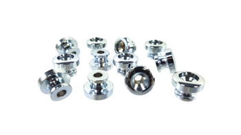 12pc. Chrome Strap Buttons with Screws