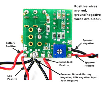 2.5W Artec Amp Circuit Board with Pre-wired Leads