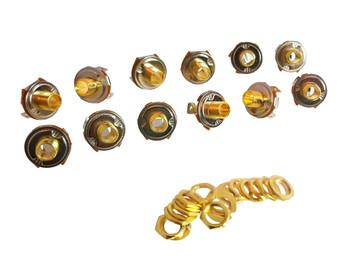 "12-pack 1/4"" Gold Mono Jacks"