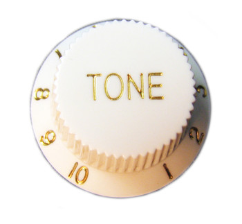 8-pack White Stratocaster-style Tone Knobs