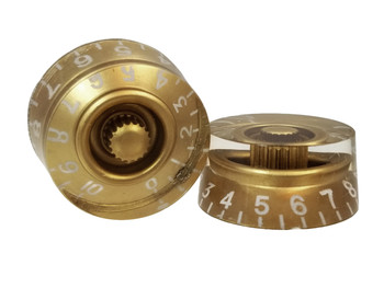 2pc. Gold Gibson(tm)-style Acrylic Speed Knobs