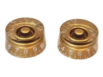 2pc. Gold Gibson(tm)-style Acrylic Speed Knobs