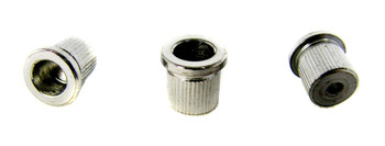 3pc. Chrome Cup-style String Ferrules for Guitar & More