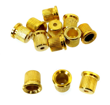 12pc. Gold Cup-style String Ferrules