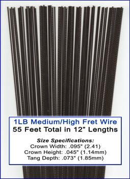 1LB Bulk Fret Wire - Medium/High Nickel Silver