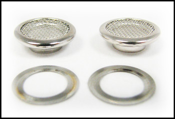 25pc. 15mm Shiny Nickel Screened Grommets