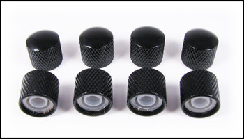 8-pack Black Dome Press-Fit Knobs